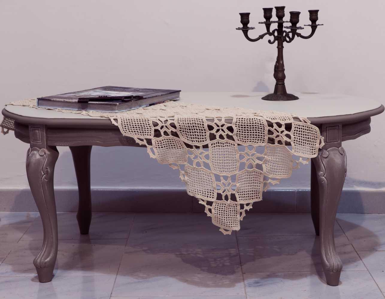 Tavolino romantico chippendale Shabby Chic [PEZZO UNICO]