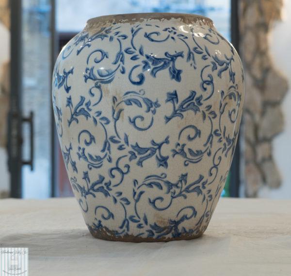 vaso effetto vintage ceramica shabby chic