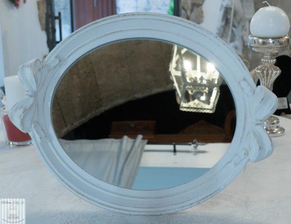 specchio shabby chic con fiocco