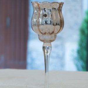 portacandele in vetro shabby