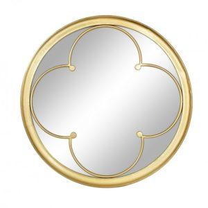 specchio tondo dorato