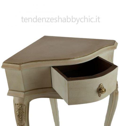 Tavolino fagiolino angolare in stile Shabby Chic [PEZZO UNICO]