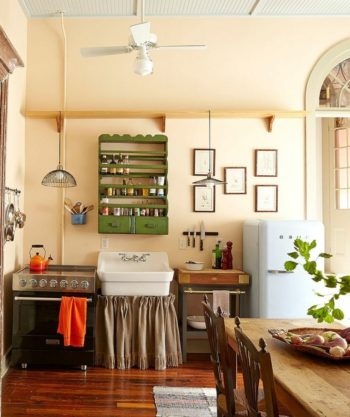 cucina shabby romantica