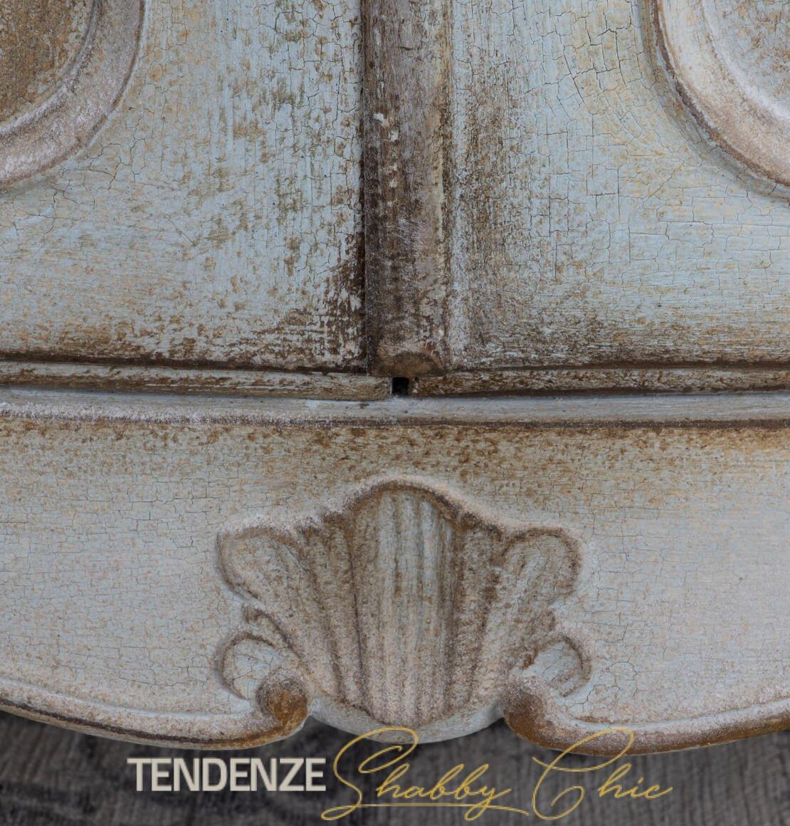 Credenza in stile provenzale tempera antica H 200 cm ...