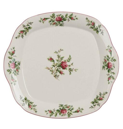 vassoio in ceramica bianca