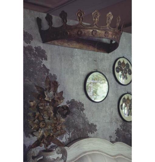 Ciel de lit corona in ferro battuto
