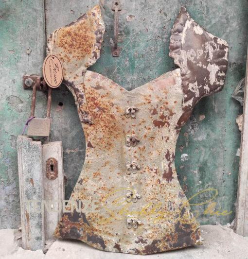 corsetto con patina vintage