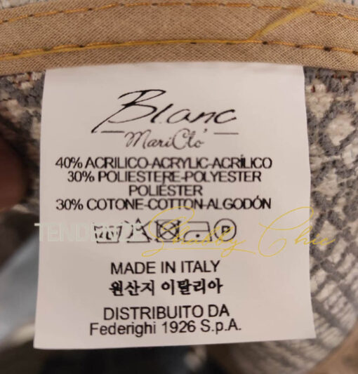 etichetta tappeto elegant