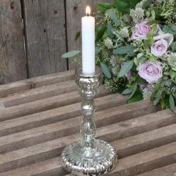 candelabro in vetro shabby chic