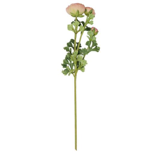 Rosa sintetica con tre steli alto 70 cm