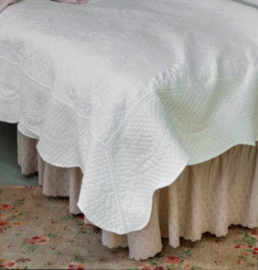 vestiletto matrimoniale in pizzo sangallo
