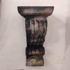 Mensola Capitello in legno H 24 cm