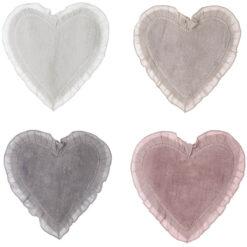 tappeto da bagno a forma di cuore shabby chic