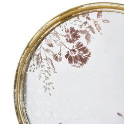 Specchio Tondo con Fiori effetto Vintage