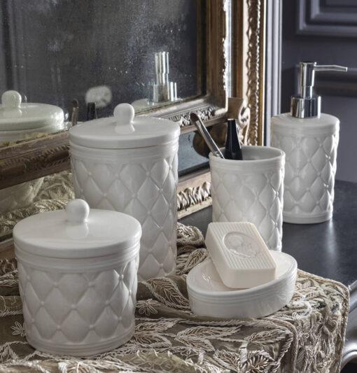 Set 2 barattoli in ceramica Mathilde M. - Boudoir Précieux