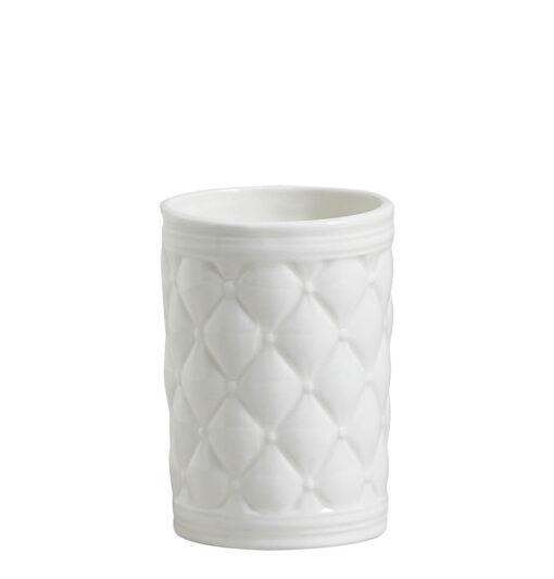 Bicchiere da Bagno in Ceramica Capitonnè Mathilde M. - Boudoir Précieux