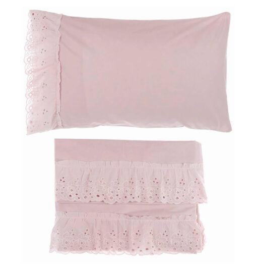 completo lenzuola matrimoniali rosa
