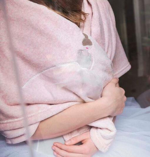 plaid invernale rosa