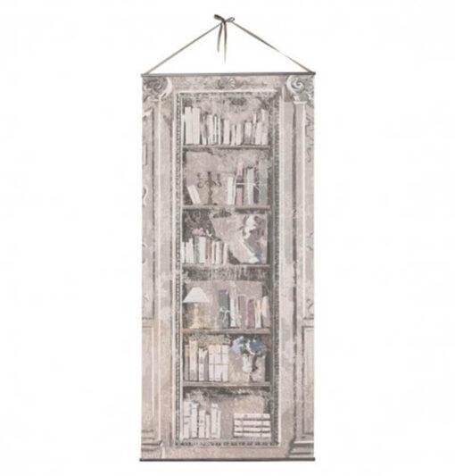 Tela Trompe-l'oeil Bibliothèque 200 cm
