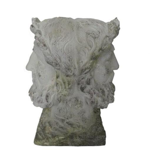 Busto di uomo a due facce H 43 cm