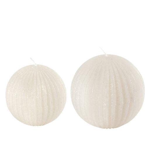 candele a forma di palla
