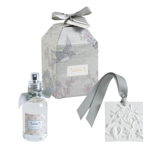 Cofanetto con gesso profumato e spray Jardin d'Ailleurs - Fleur de Coton