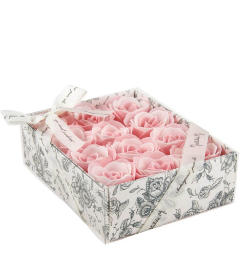 Scatola da 12 saponette a forma di rosa - Mathilde M.