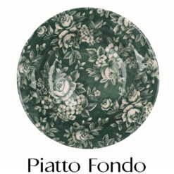 Servizio di piatti Splendor Verde Blanc Mariclò con fiori per 6 persone