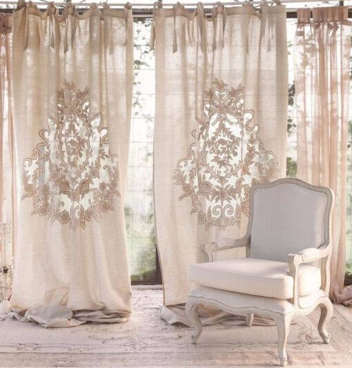 tenda in lino blanc mariclo
