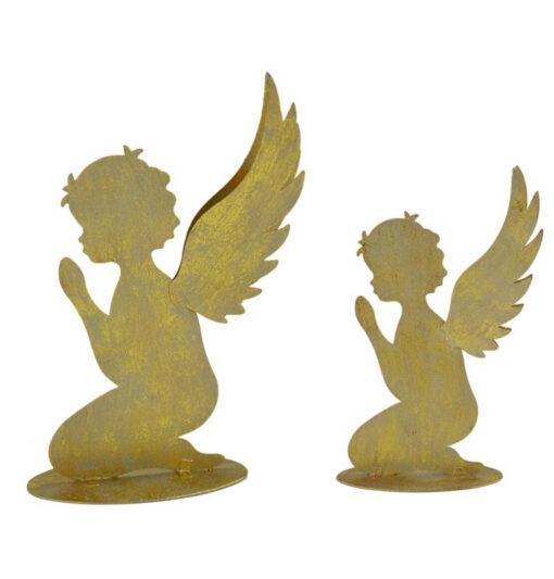 Angeli silhouette dorati