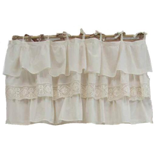 Mantovana Etoile voile con cotone e crochet