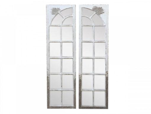 Specchio finestra due pannelli H 133 cm