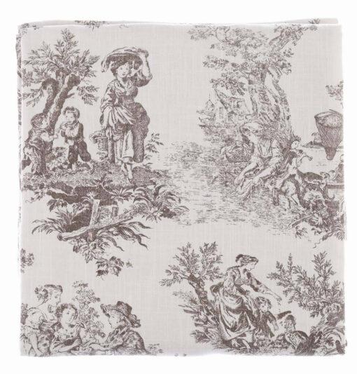 Tovaglia Toile de Jouy 180 x 240 - Blanc Mariclò
